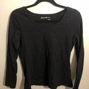 Eddie Bauer Black Long Sleeve